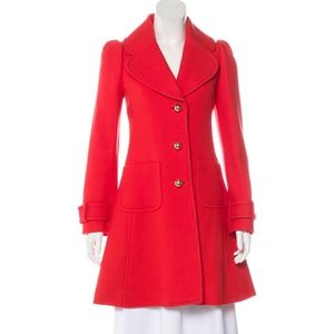 Kate Spade New York 'Eryn' Wool Knee-Length Coat